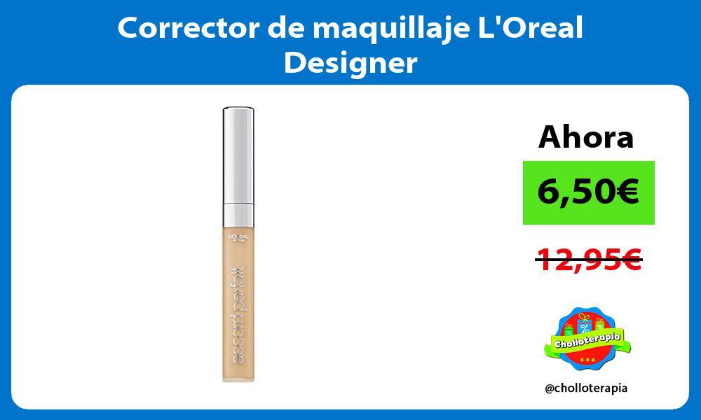 Corrector de maquillaje LOreal Designer
