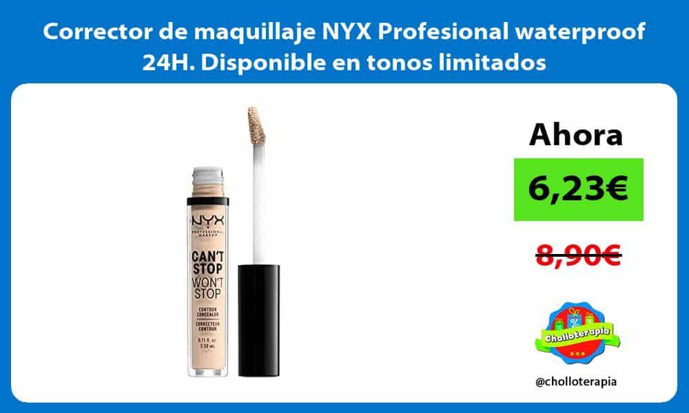 Corrector de maquillaje NYX Profesional waterproof 24H Disponible en tonos limitados
