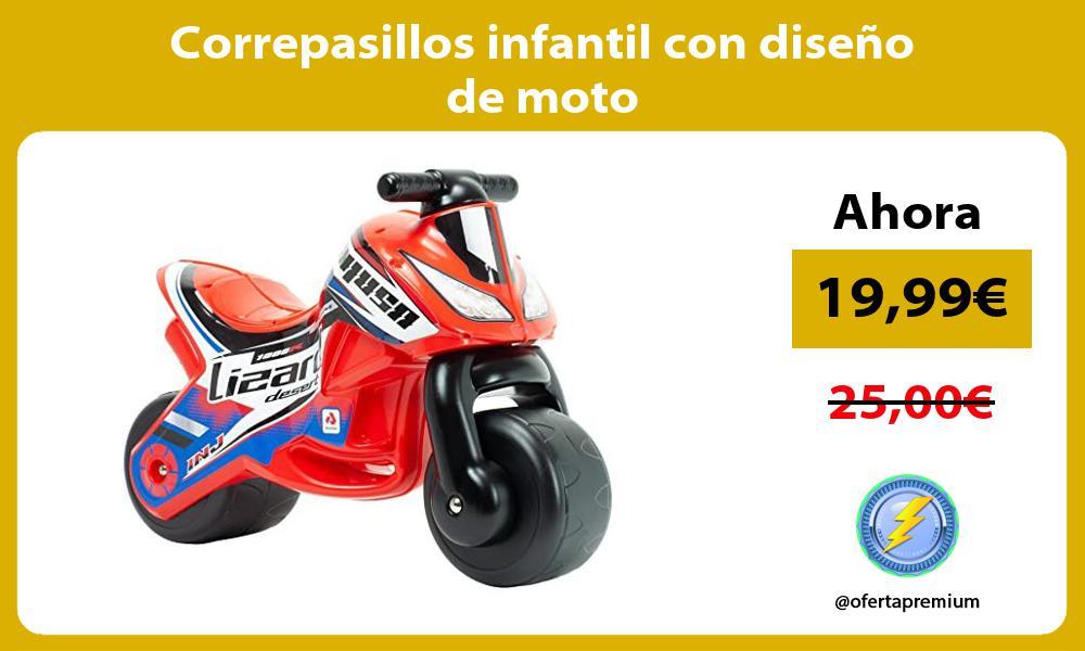 Correpasillos infantil con diseño de moto