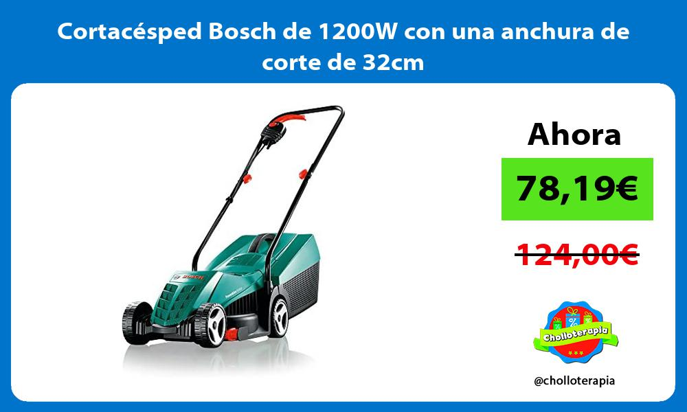 Cortacésped Bosch de 1200W con una anchura de corte de 32cm