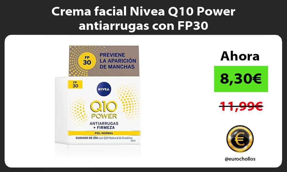 Crema facial Nivea Q10 Power antiarrugas con FP30