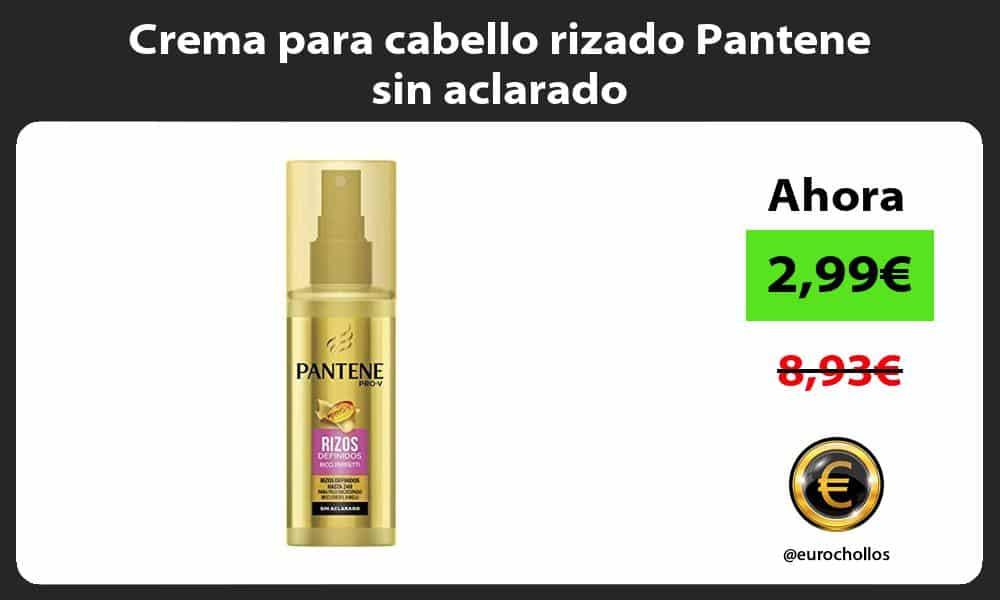 Crema para cabello rizado Pantene sin aclarado