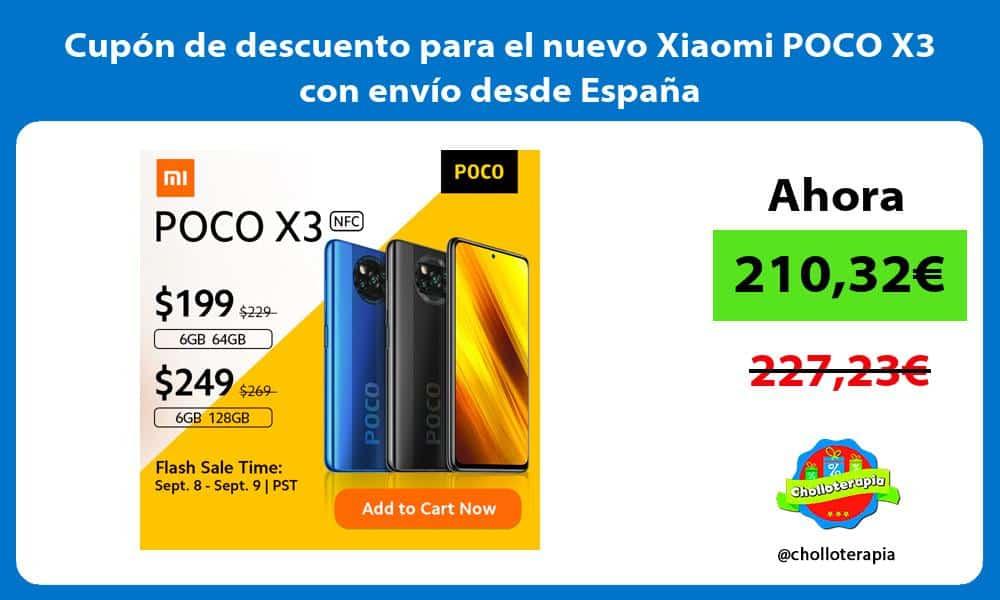 Cupón de descuento para el nuevo Xiaomi POCO X3 con envío desde España