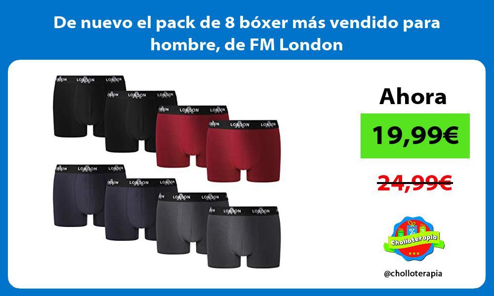 De nuevo el pack de 8 boxer mas vendido para hombre de FM London