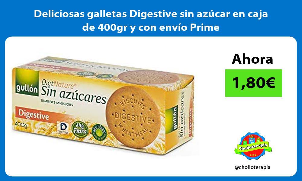 Deliciosas galletas Digestive sin azucar en caja de 400gr y con envio Prime