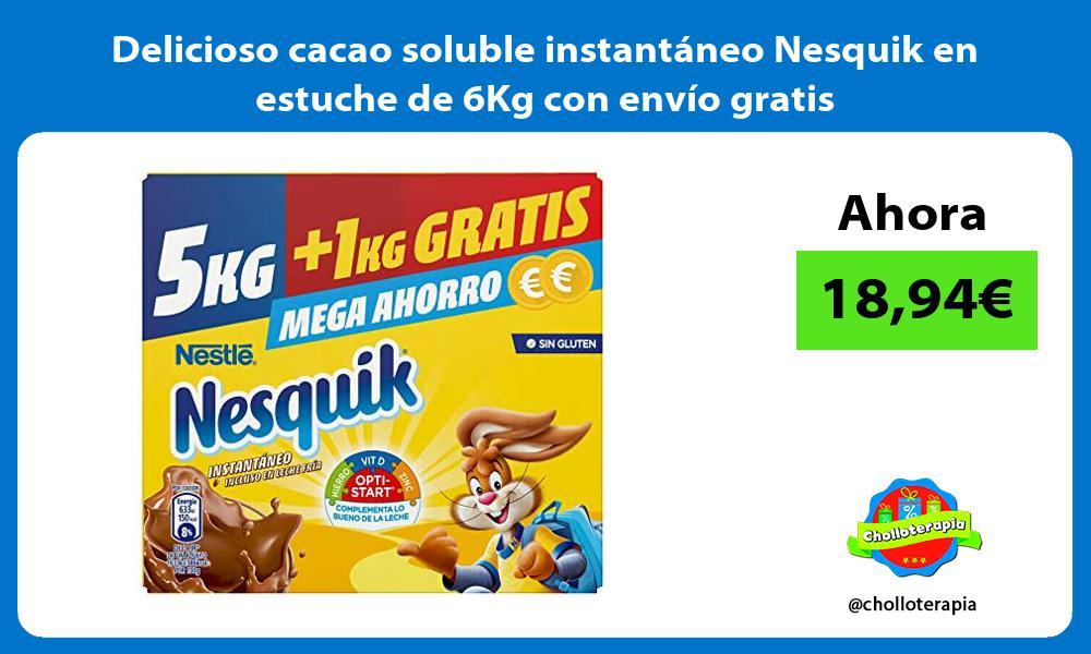 Delicioso cacao soluble instantáneo Nesquik en estuche de 6Kg con envío gratis