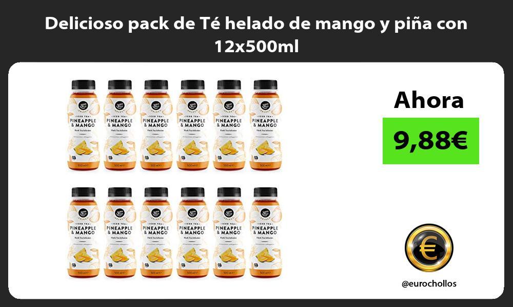 Delicioso pack de Te helado de mango y pina con 12x500ml