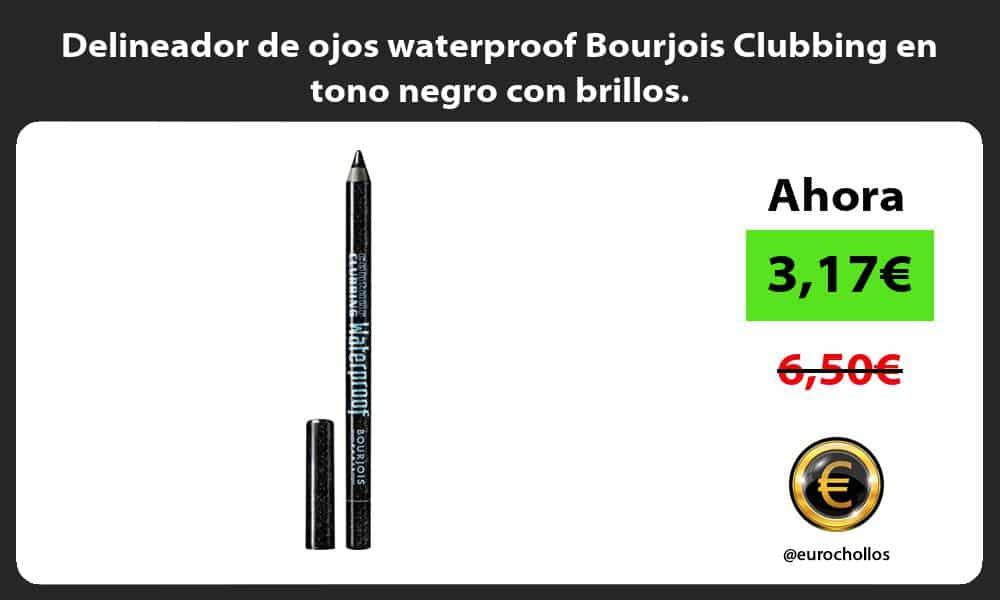 Delineador de ojos waterproof Bourjois Clubbing en tono negro con brillos