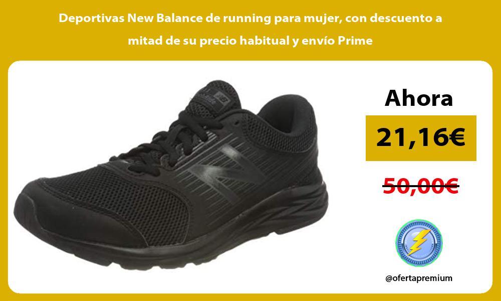 Deportivas New Balance de running para mujer con descuento a mitad de su precio habitual y envio Prime