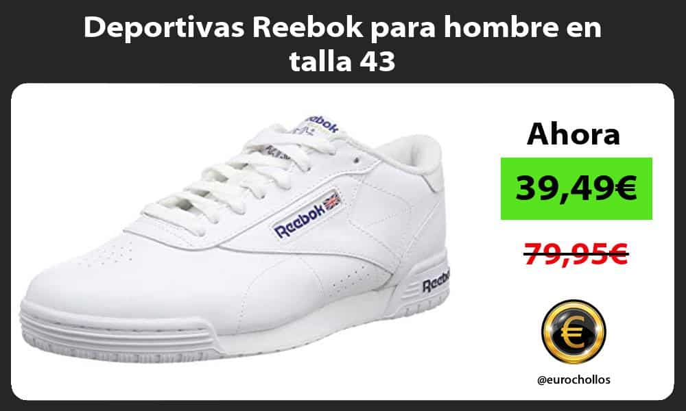 Deportivas Reebok para hombre en talla 43