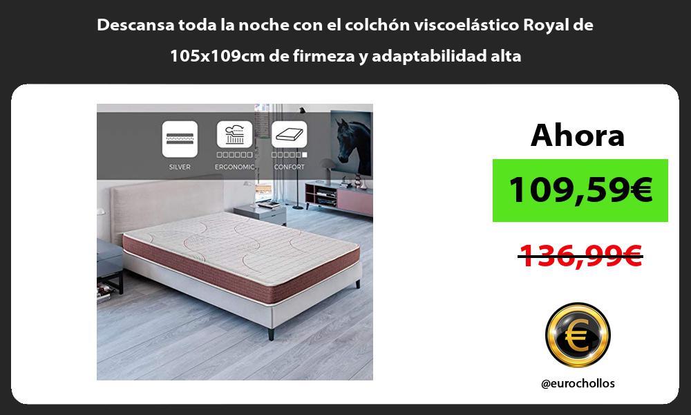 Descansa toda la noche con el colchon viscoelastico Royal de 105x109cm de firmeza y adaptabilidad alta