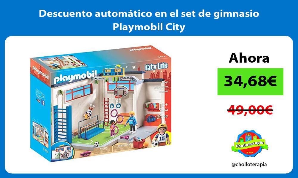 Descuento automatico en el set de gimnasio Playmobil City