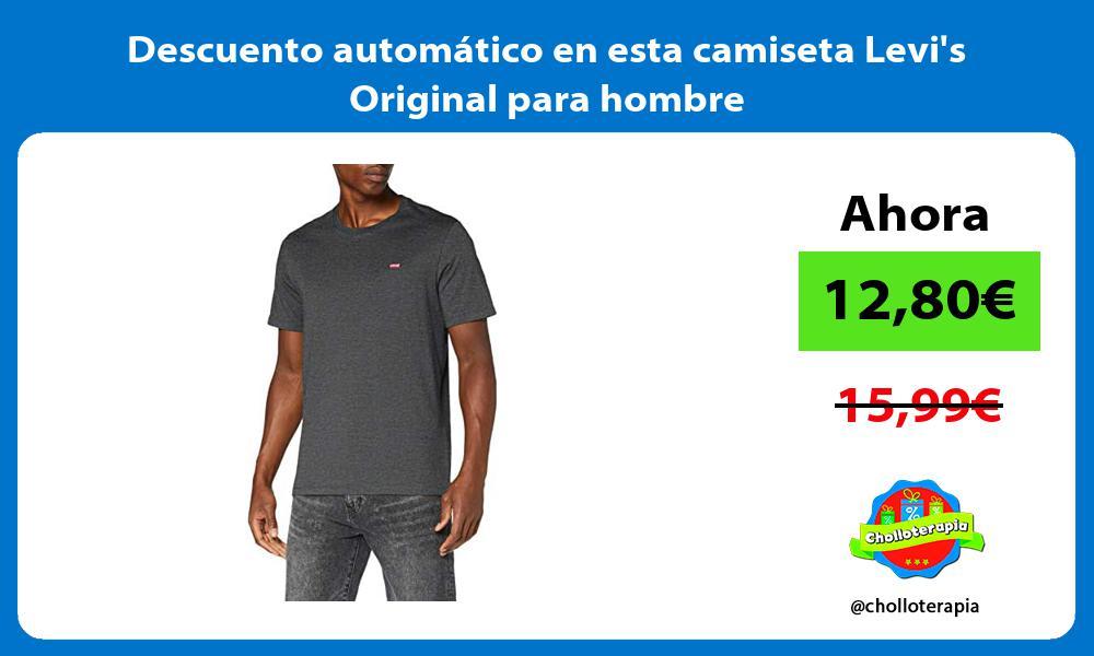 Descuento automatico en esta camiseta Levis Original para hombre
