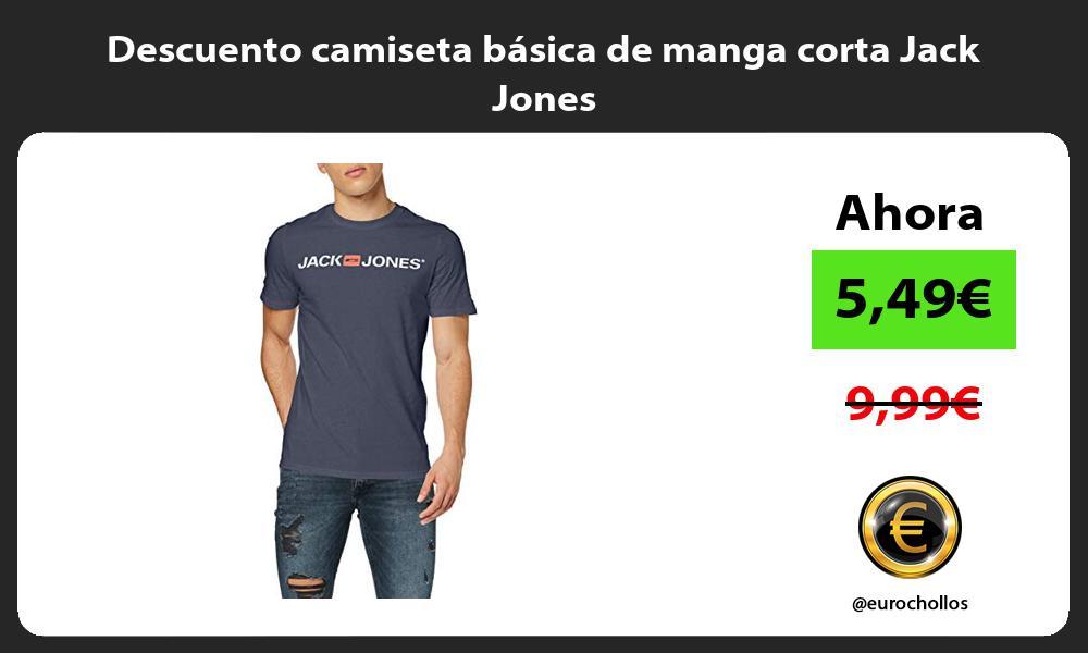 Descuento camiseta basica de manga corta Jack Jones