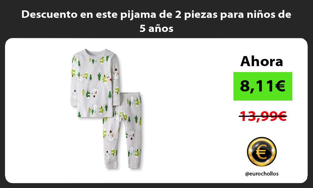 Descuento en este pijama de 2 piezas para ninos de 5 anos
