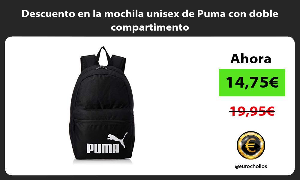 Descuento en la mochila unisex de Puma con doble compartimento