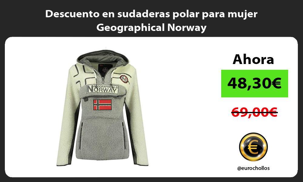 Descuento en sudaderas polar para mujer Geographical Norway