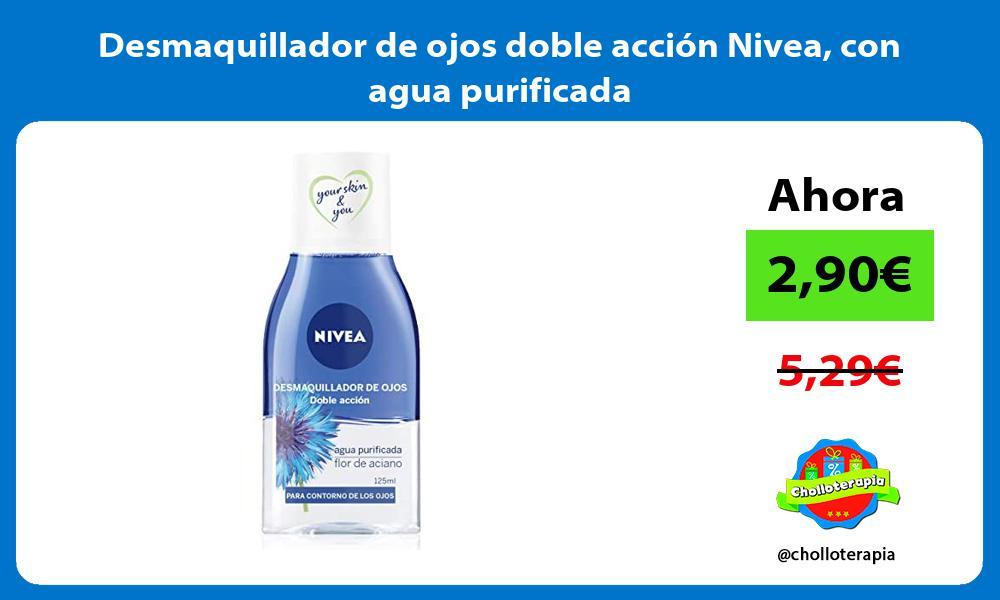 Desmaquillador de ojos doble acción Nivea con agua purificada