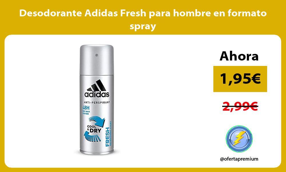 Desodorante Adidas Fresh para hombre en formato spray
