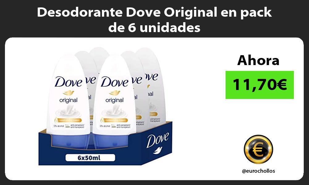 Desodorante Dove Original en pack de 6 unidades