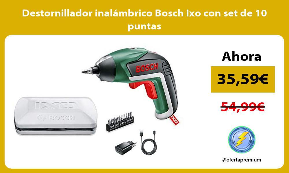 Destornillador inalámbrico Bosch Ixo con set de 10 puntas