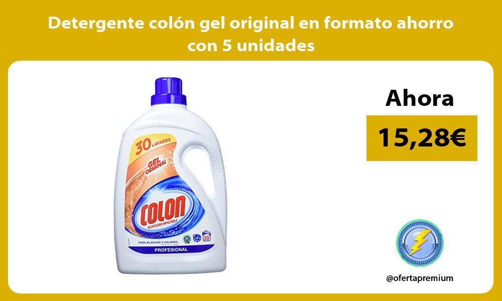 Detergente colon gel original en formato ahorro con 5 unidades
