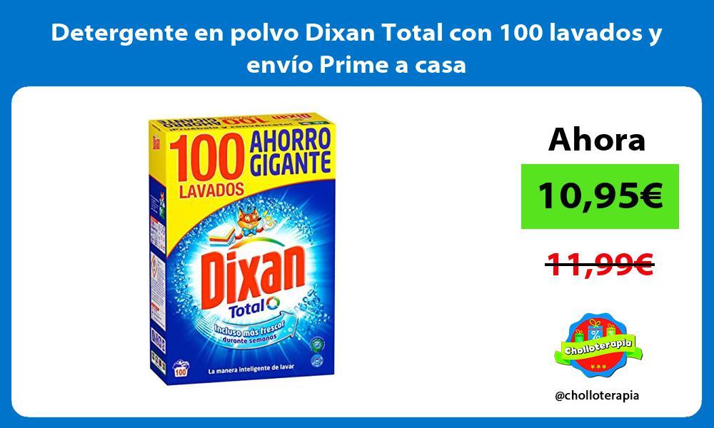 Detergente en polvo Dixan Total con 100 lavados y envio Prime a casa