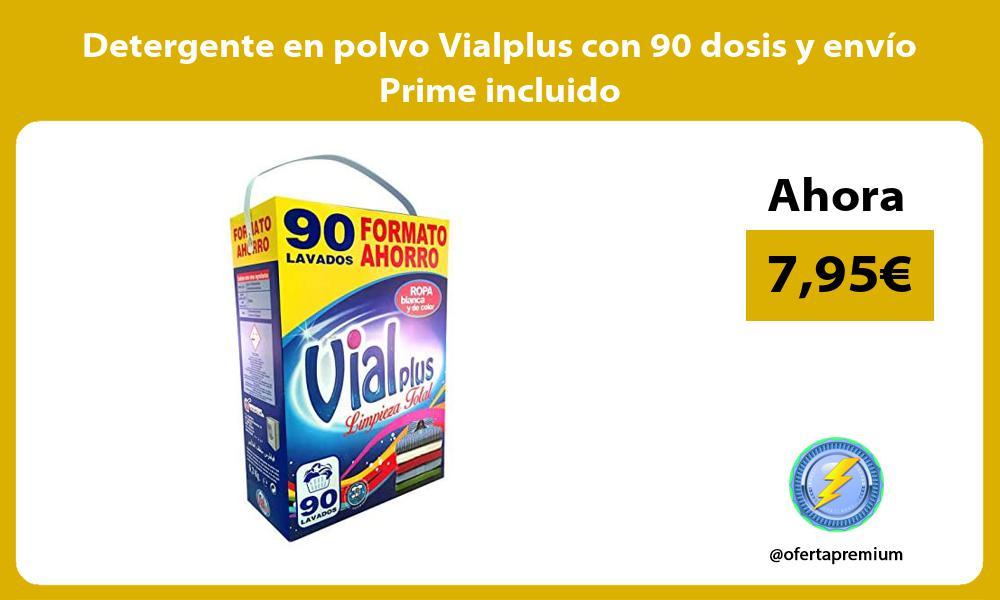 Detergente en polvo Vialplus con 90 dosis y envio Prime incluido