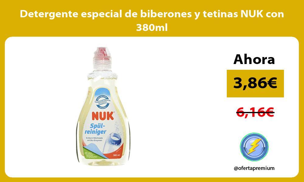 Detergente especial de biberones y tetinas NUK con 380ml