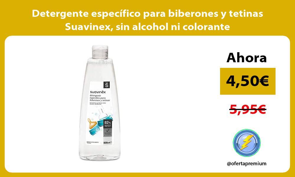 Detergente especifico para biberones y tetinas Suavinex sin alcohol ni colorante