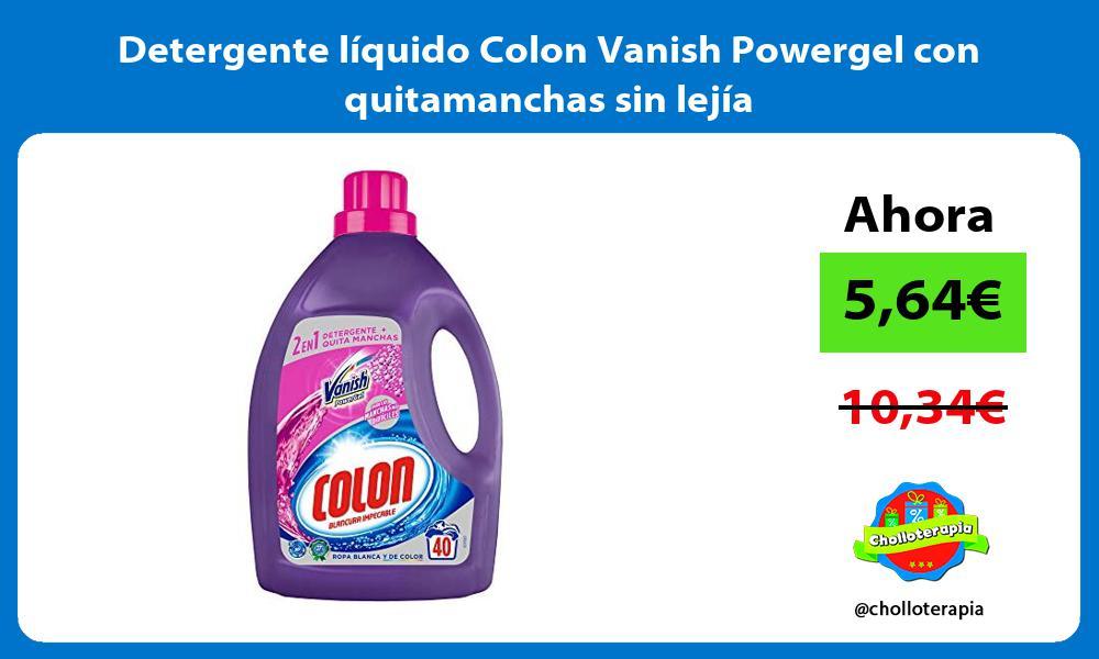 Detergente liquido Colon Vanish Powergel con quitamanchas sin lejia
