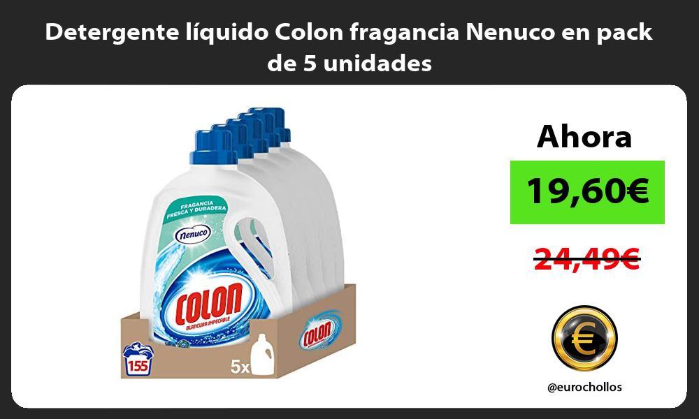 Detergente liquido Colon fragancia Nenuco en pack de 5 unidades