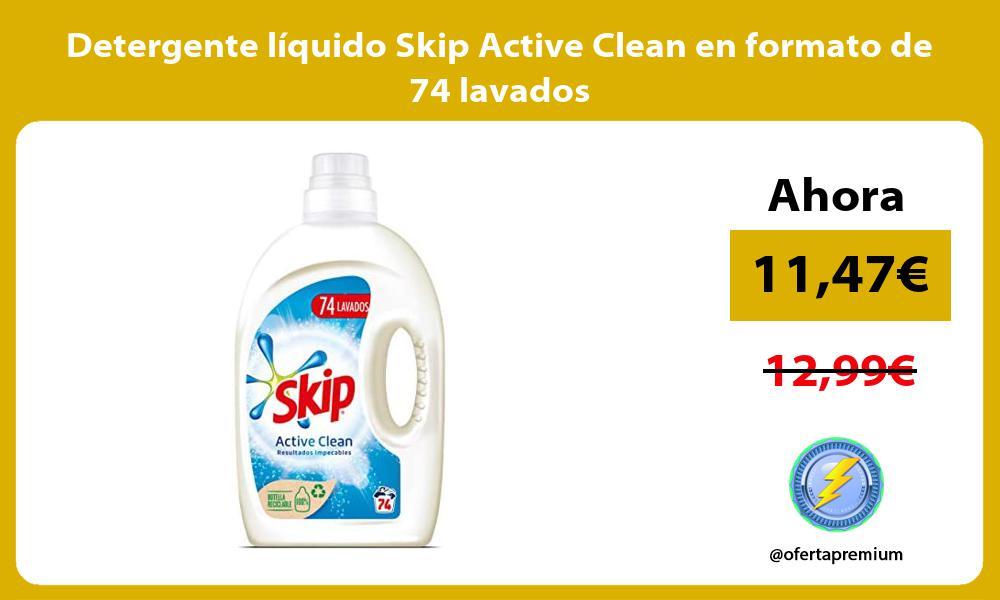 Detergente liquido Skip Active Clean en formato de 74 lavados