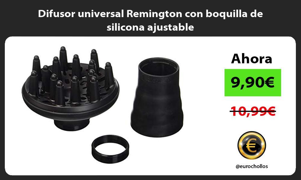 Difusor universal Remington con boquilla de silicona ajustable