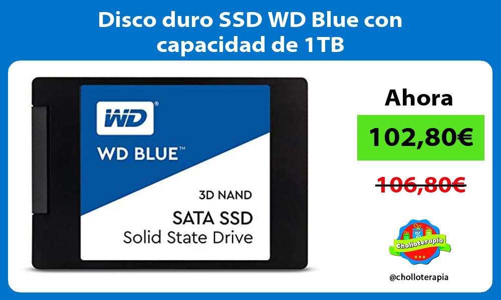 Disco duro SSD WD Blue con capacidad de 1TB