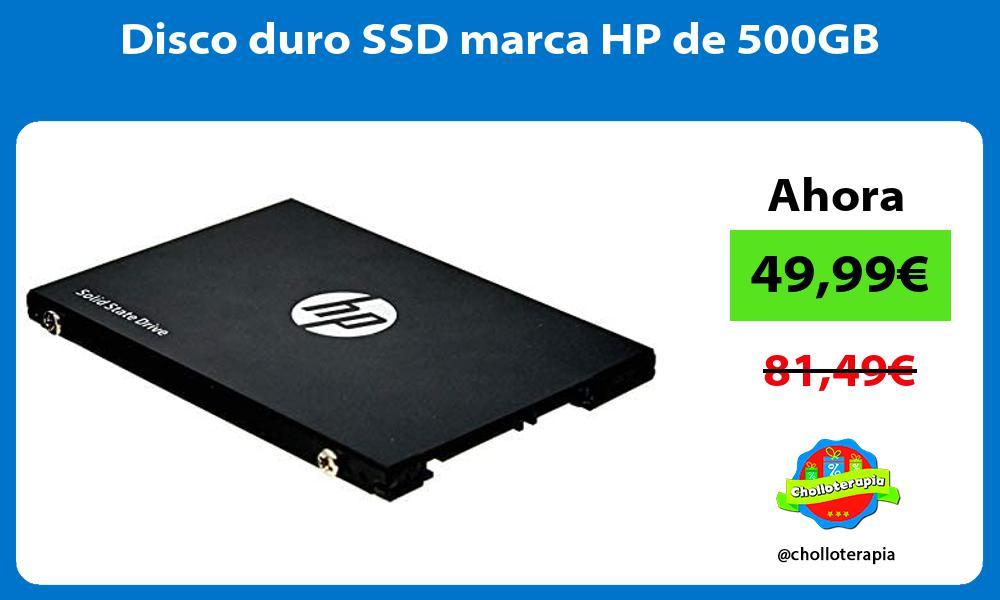 Disco duro SSD marca HP de 500GB