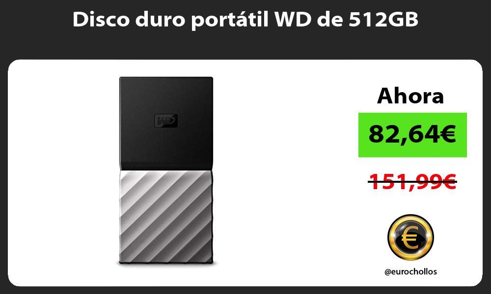 Disco duro portátil WD de 512GB