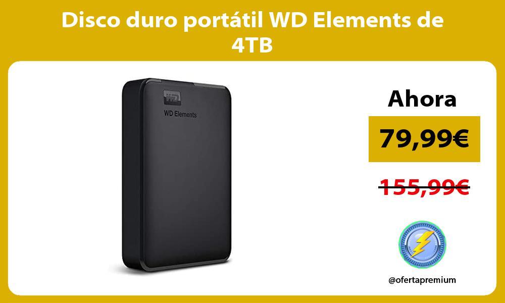 Disco duro portatil WD Elements de 4TB
