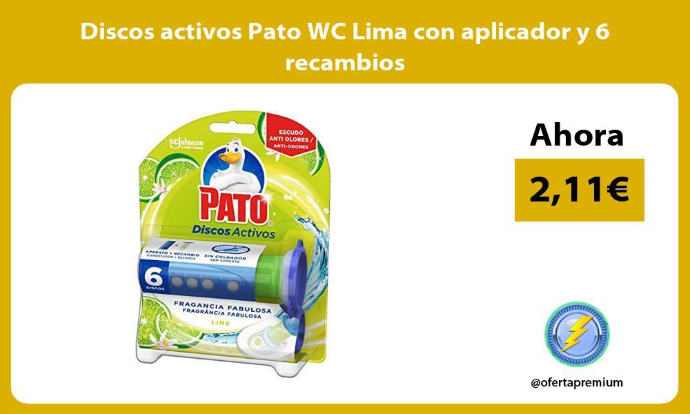 Discos activos Pato WC Lima con aplicador y 6 recambios