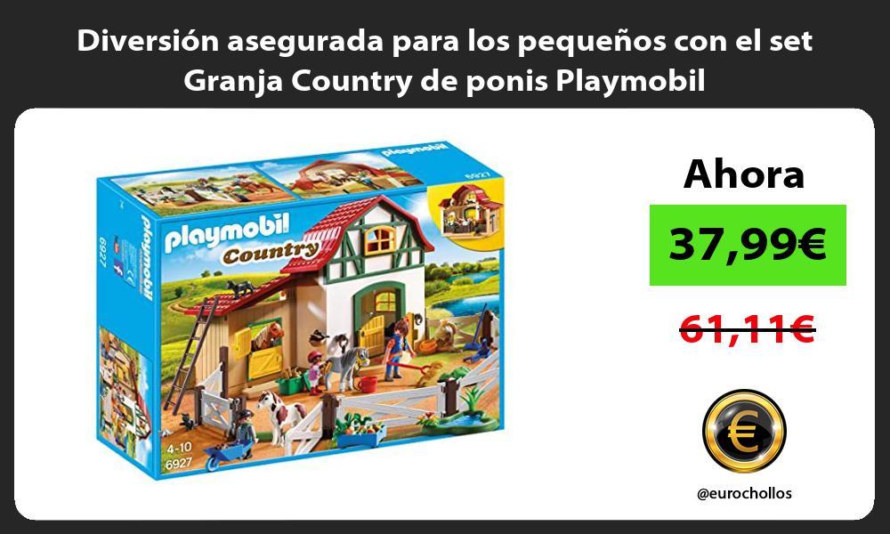 Diversion asegurada para los pequenos con el set Granja Country de ponis Playmobil