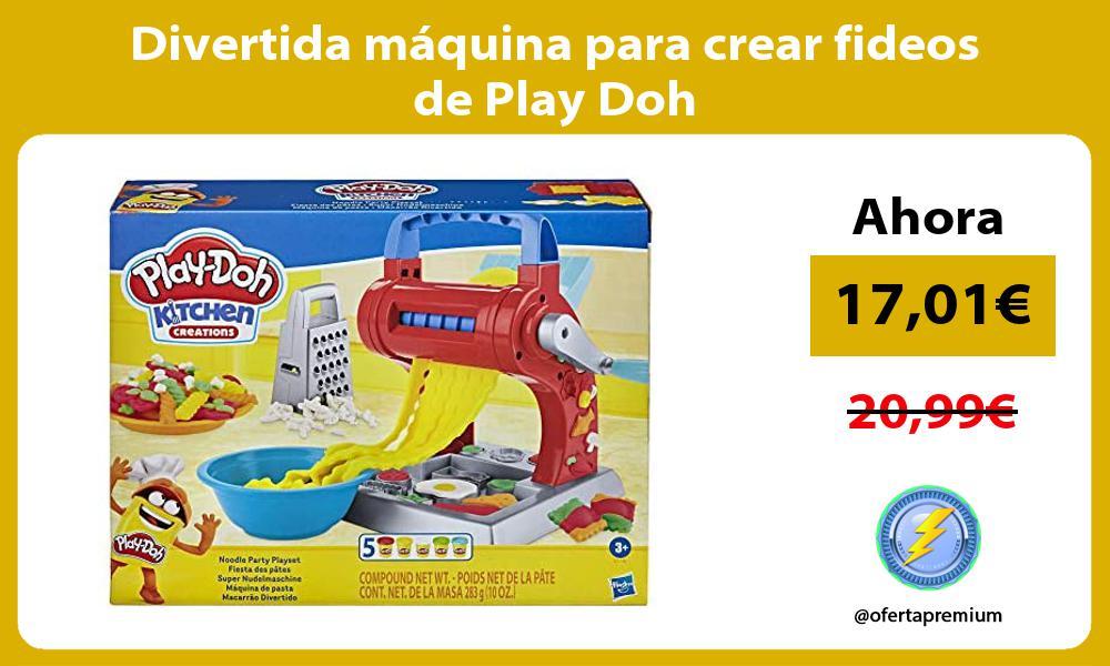 Divertida maquina para crear fideos de Play Doh