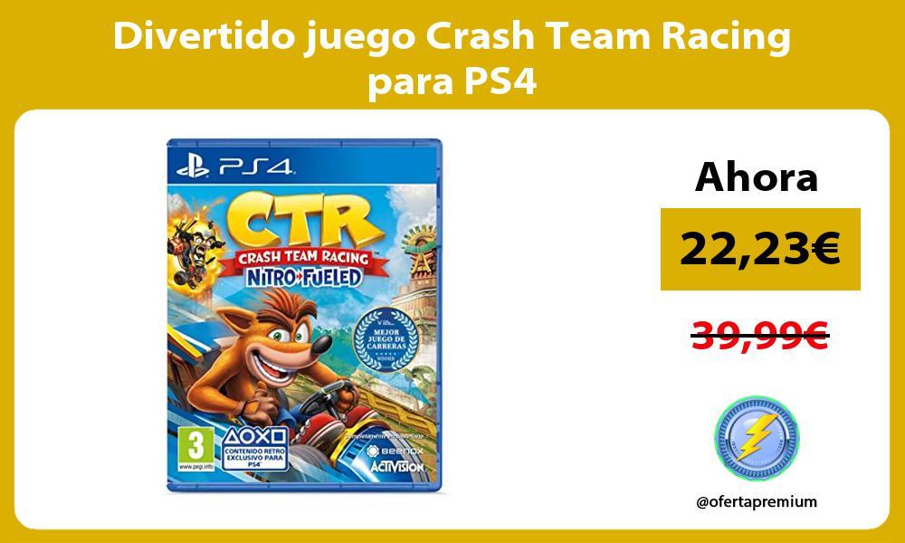 Divertido juego Crash Team Racing para PS4