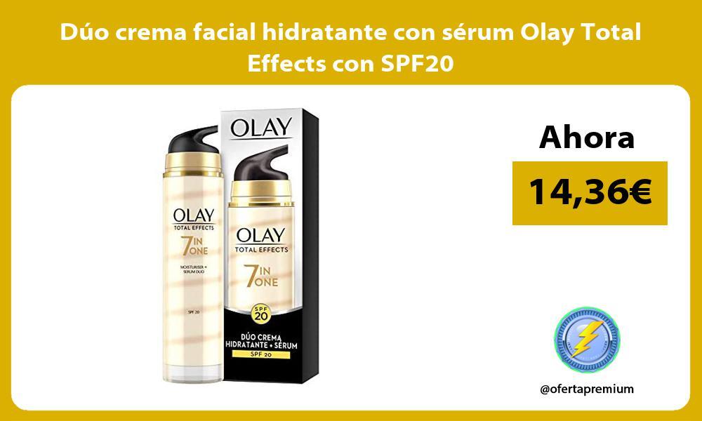 Duo crema facial hidratante con serum Olay Total Effects con SPF20