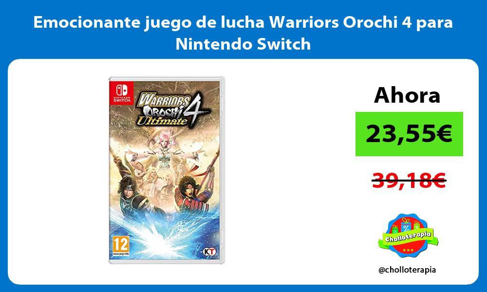 Emocionante juego de lucha Warriors Orochi 4 para Nintendo Switch