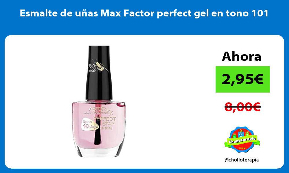 Esmalte de unas Max Factor perfect gel en tono 101