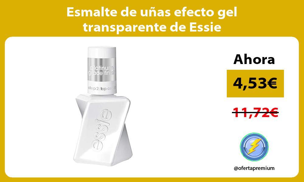 Esmalte de unas efecto gel transparente de Essie