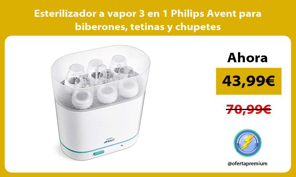 Esterilizador a vapor 3 en 1 Philips Avent para biberones tetinas y chupetes