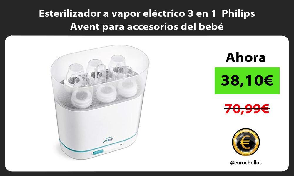 Esterilizador a vapor electrico 3 en 1 Philips Avent para accesorios del bebe