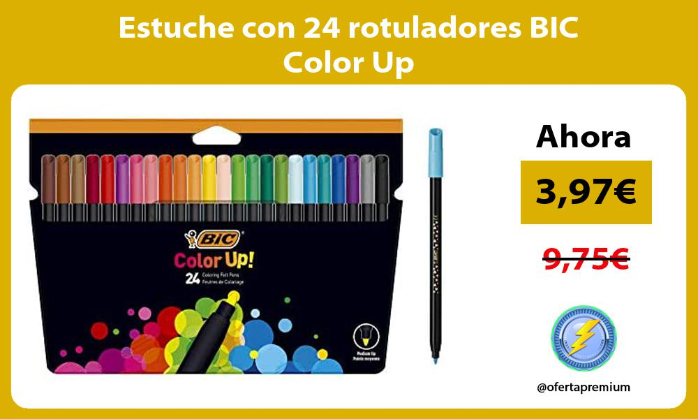 Estuche con 24 rotuladores BIC Color Up