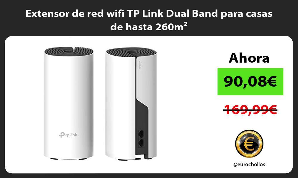 Extensor de red wifi TP Link Dual Band para casas de hasta 260m²